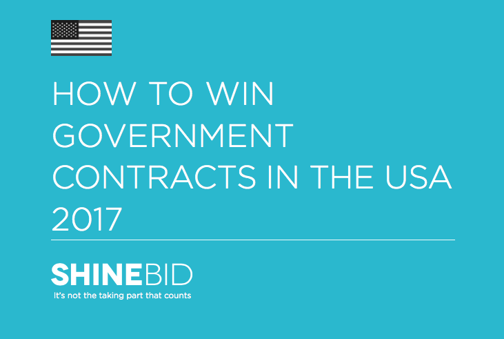 'How to Win Government Contracts in the USA 2017' ebook from Shine Bid Services